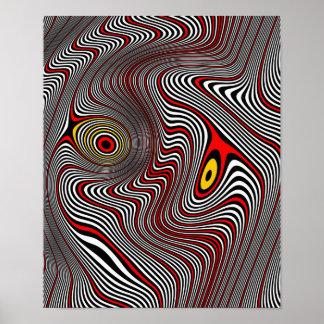 Migraine Aura Op Art Poster