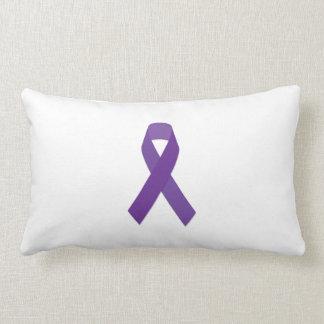 Migraine Awareness Ribbon Lumbar Pillow