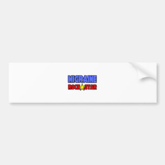 Migraine Rock Star Bumper Stickers