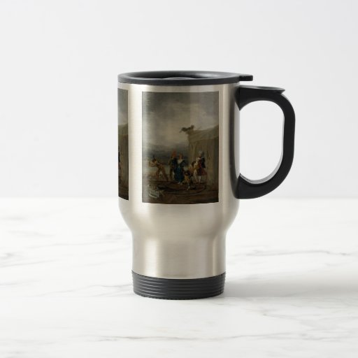 Migrant Comedians By Francisco De Goya 15 Oz Stainless Steel Travel Mug