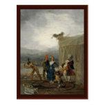 Migrant Comedians By Francisco De Goya Postcard