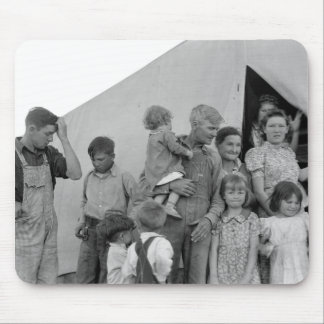 Migrant Family During Pea Harvest -- 1939 Mouse Pad