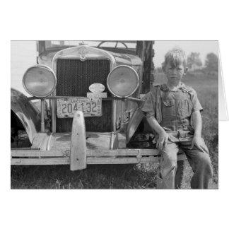 Migrant Fruit Picker's Truck, 1940 Card