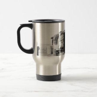 Migrant home 1937. travel mug