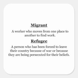 Migrant Refugees Square Sticker