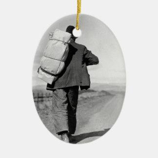Migrant Walking – 1935 Ceramic Ornament