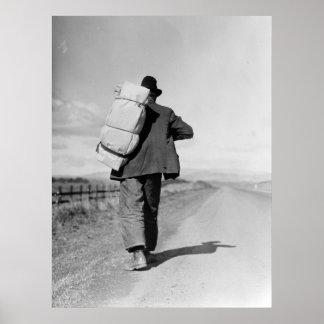 Migrant Walking – 1935 Poster