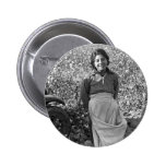 Migrant  Worker next to a Cotton Field Pinback Button
