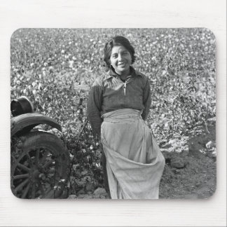 Migrant  Worker next to a Cotton Field Mouse Pad