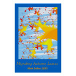 Migrating Autumn Leaves by Mark Sellers Poster