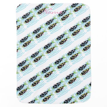 Beach Themed migrating fish Thunder_Cove any color Baby Blanket
