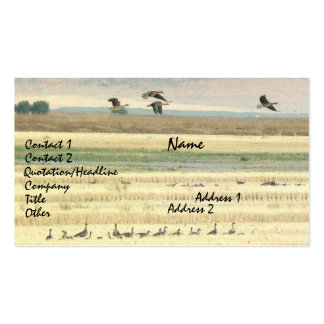Migrating Geese Business Card