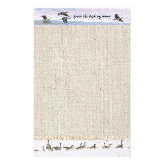 Migrating Geese Stationery