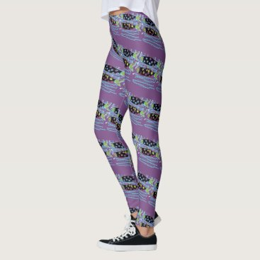 migrating smaller salmon Thunder_Cove purple Leggings