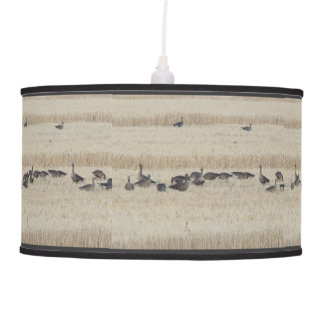 Migrating White Fronted Geese Birds Wildlife Hanging Lamp