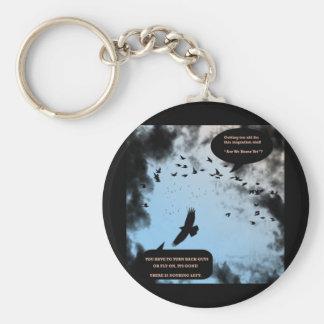 """""""Migration Birds In Turmoil""""* Keychain"""