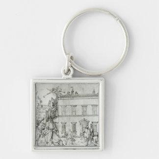 Miguel Ángel a caballo, visitando a un artista Llaveros Personalizados