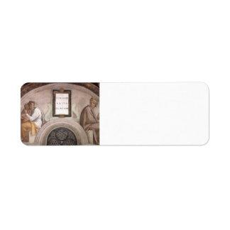 Miguel Ángel: Antepasados de Cristo: Abiud, Eliaki Etiquetas De Remite