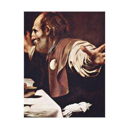 Miguel Ángel DA Caravaggio - cena en Emmaus Impresiones De Lienzo