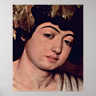 Miguel Ángel DA Caravaggio - detalle de Dionysus Impresiones