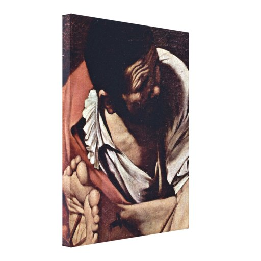 Miguel Ángel DA Caravaggio - detalle de la crucifi Lona Estirada Galerias
