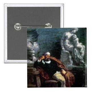 Miguel Ángel en su estudio Pin Cuadrado