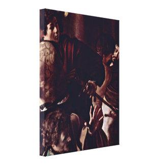 Miguel Ángel Merisi DA Caravaggio - audiencia Impresión De Lienzo