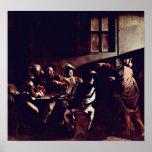Miguel Ángel Merisi DA Caravaggio - St Matthew Poster