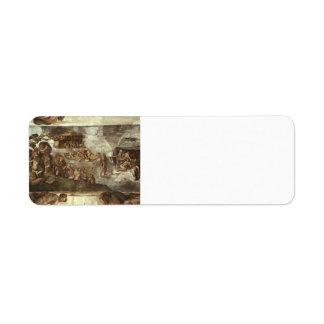 Miguel Ángel: Techo de la capilla de Sistine: La i Etiquetas De Remite