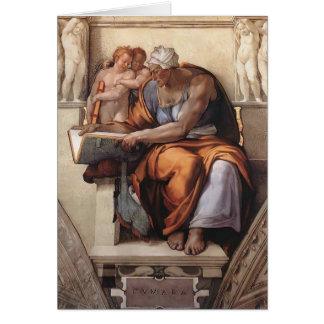 Miguel Ángel: Techo de la capilla de Sistine: Sibi Tarjeta De Felicitación