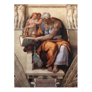 Miguel Ángel: Techo de la capilla de Sistine: Sibi Postales