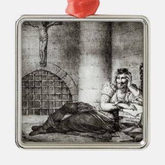 Miguel de Cervantes Saavedra Metal Ornament