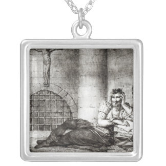 Miguel de Cervantes Saavedra Silver Plated Necklace