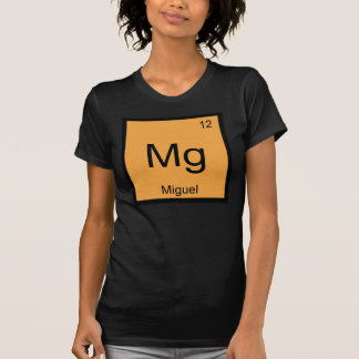 Miguel Name Chemistry Element Periodic Table Shirt