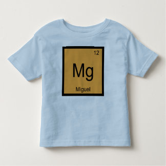 Miguel Name Chemistry Element Periodic Table Tee Shirt