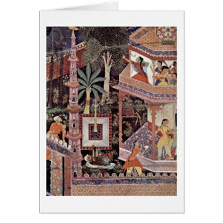 Mihrdukht Shoot Arrows By Master Of Hamza-Nama Greeting Cards