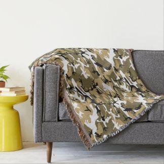 Miilitary Desert Camo Pattern Throw Blanket