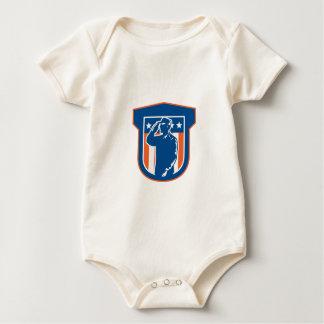 Miilitary Serviceman Salute Side Crest Baby Bodysuit