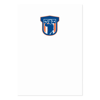 Miilitary Serviceman Salute Side Crest Large Business Cards (Pack Of 100)