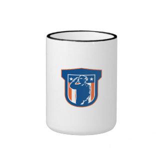 Miilitary Serviceman Salute Side Crest Ringer Coffee Mug