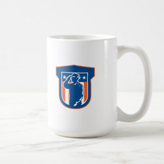 Miilitary Serviceman Salute Side Crest Classic White Coffee Mug