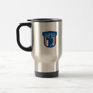 Miilitary Serviceman Salute Side Crest 15 Oz Stainless Steel Travel Mug