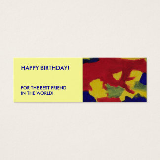MIini Bookmarker  Birthday Colorful Abstract Mini Business Card