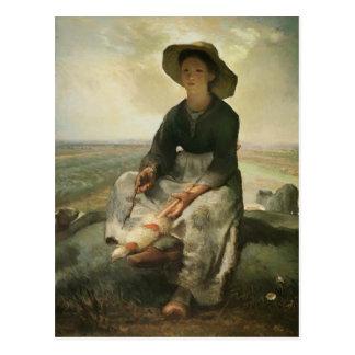 Mijo de Jean-Francois el Shepherdess joven Postal