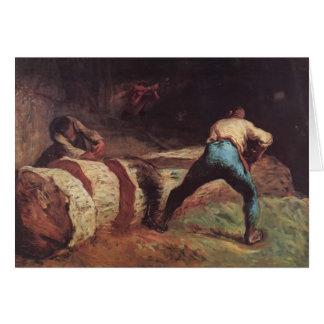 Mijo de Jean-Francois los aserradores de madera Tarjeta De Felicitación