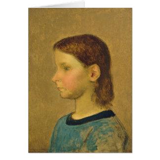 Mijo de Louise, c.1863 Tarjeta De Felicitación