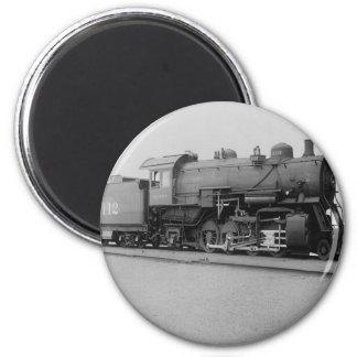 Mikado 2-8-2 Vintage Steam Engine Train 2 Inch Round Magnet