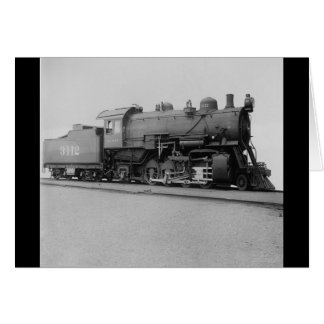 Mikado 2-8-2 Vintage Steam Engine Train Card