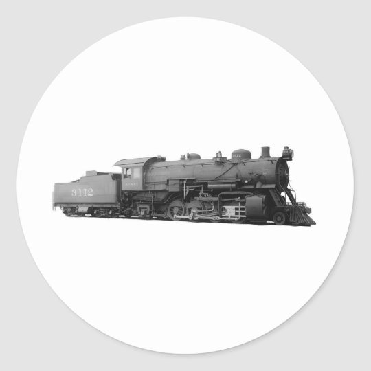 Mikado 2-8-2 Vintage Steam Engine Train Classic Round Sticker