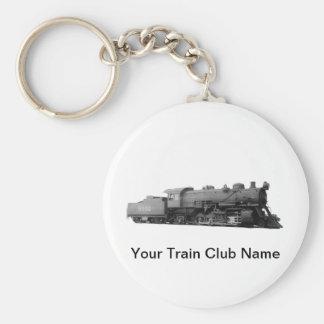 Mikado 2-8-2 Vintage Steam Engine Train Keychain